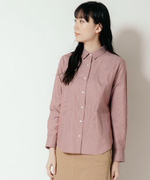 NIMES / ニーム シャツ・ブラウス   Francaise traditionalシャツ(ベージュ系)