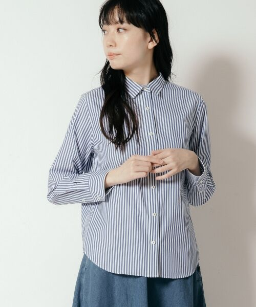 NIMES / ニーム シャツ・ブラウス   Francaise traditionalシャツ(ネイビー系1)