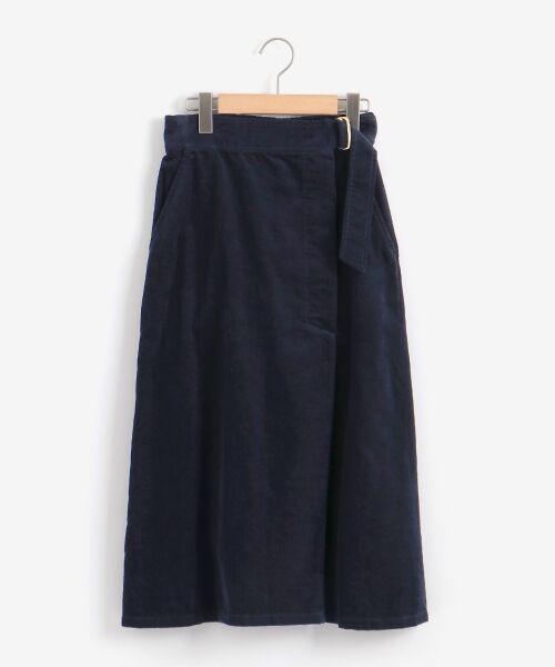 NIMES / ニーム ミニ・ひざ丈スカート | Corduroyラップ風スカート | 詳細11