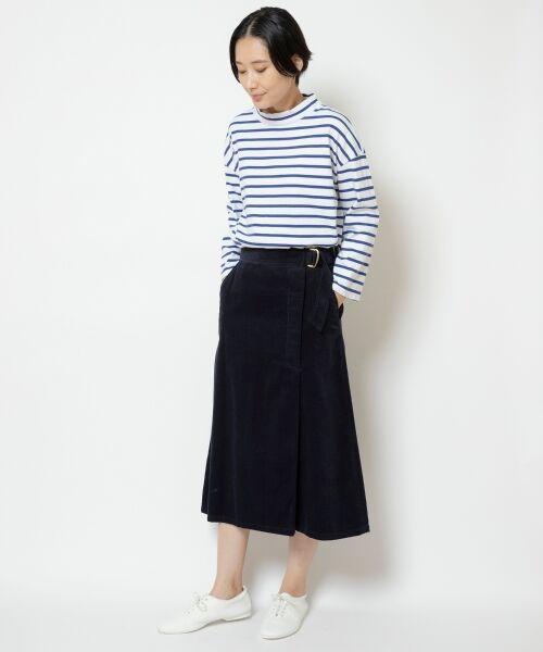 NIMES / ニーム ミニ・ひざ丈スカート | Corduroyラップ風スカート | 詳細12