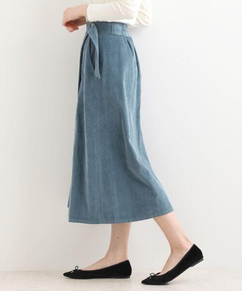 NIMES / ニーム ミニ・ひざ丈スカート | Corduroyラップ風スカート | 詳細4