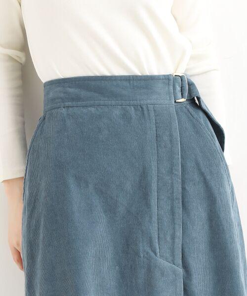 NIMES / ニーム ミニ・ひざ丈スカート | Corduroyラップ風スカート | 詳細6