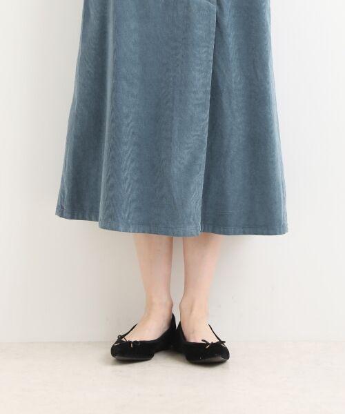 NIMES / ニーム ミニ・ひざ丈スカート | Corduroyラップ風スカート | 詳細8