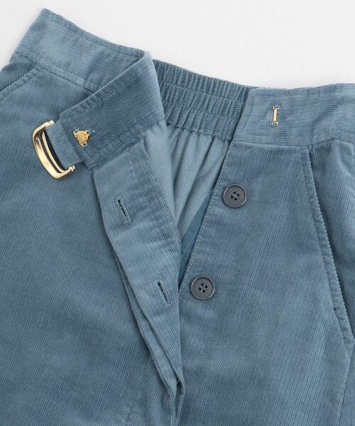 NIMES / ニーム ミニ・ひざ丈スカート | Corduroyラップ風スカート | 詳細9