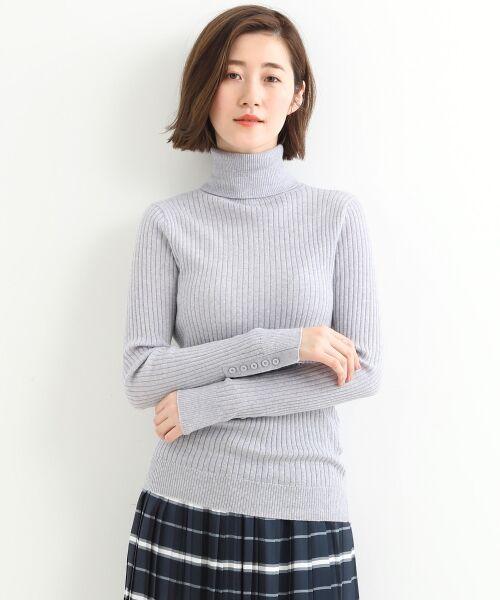 NIMES / ニーム ニット・セーター | Washable wool袖釦タートルネック | 詳細1