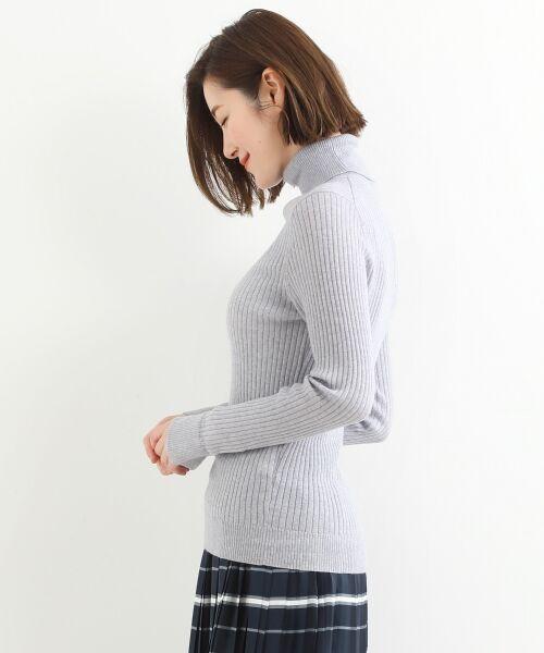 NIMES / ニーム ニット・セーター | Washable wool袖釦タートルネック | 詳細2