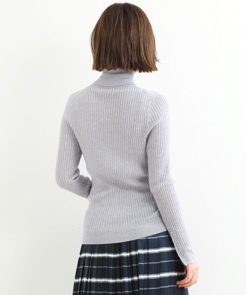 NIMES / ニーム ニット・セーター | Washable wool袖釦タートルネック | 詳細3