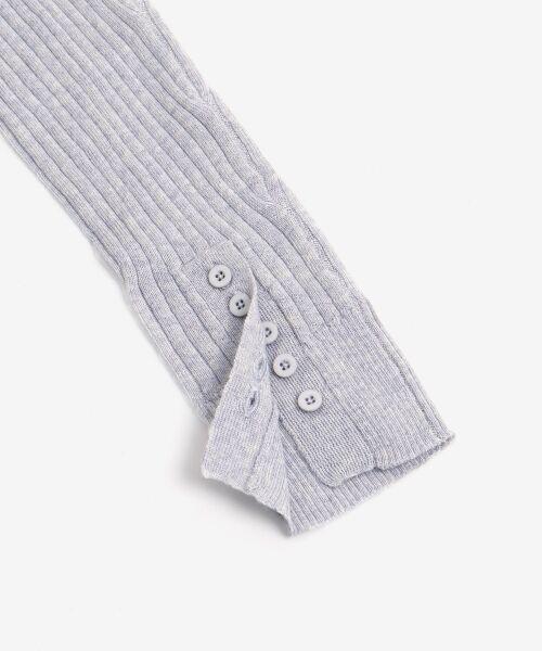 NIMES / ニーム ニット・セーター | Washable wool袖釦タートルネック | 詳細6