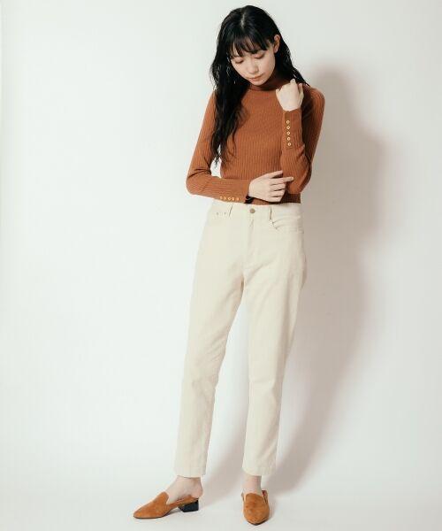 NIMES / ニーム ニット・セーター | Washable wool袖釦タートルネック | 詳細9