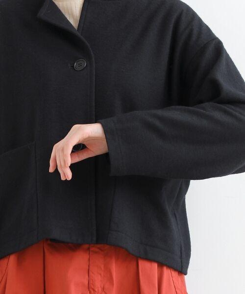 NIMES / ニーム ノーカラージャケット | ウール混 ショートジャケット | 詳細5