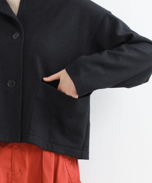 NIMES / ニーム ノーカラージャケット | ウール混 ショートジャケット | 詳細6