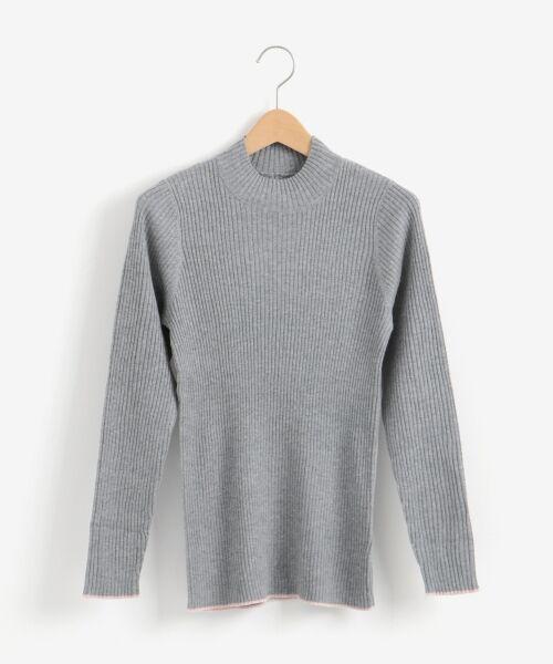NIMES / ニーム ニット・セーター | コットンアクリルリブ ハイネックプルオーバー | 詳細13