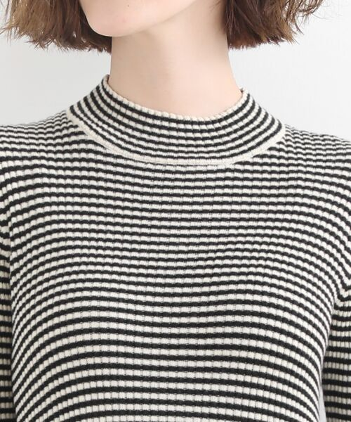 NIMES / ニーム ニット・セーター | コットンアクリルリブ ハイネックプルオーバー | 詳細4