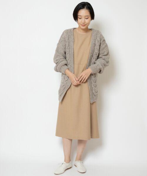 NIMES / ニーム ロング・マキシ丈ワンピース | ウール混カラーフラノ ワンピース | 詳細11