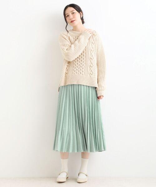 NIMES / ニーム ロング・マキシ丈スカート | プリーツ スエードスカート | 詳細1