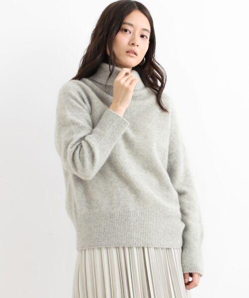 NIMES / ニーム ニット・セーター | ラクーン タートルネックPO(グレー)