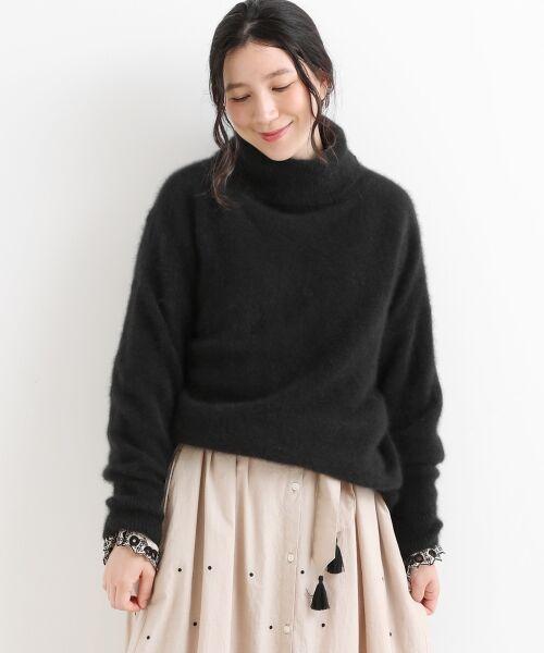 NIMES / ニーム ニット・セーター | ラクーン タートルネックPO(ブラック)
