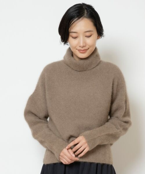NIMES / ニーム ニット・セーター | ラクーン タートルネックPO(キャメル)