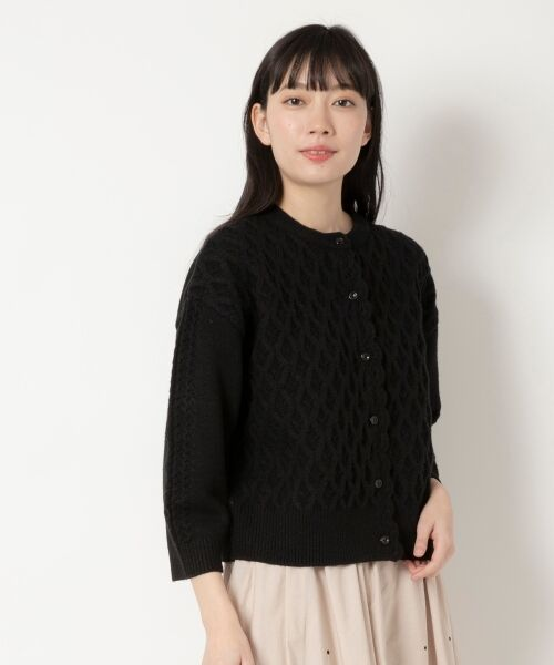 NIMES / ニーム ニット・セーター | HandライクKnit カーディガン(ブラック)