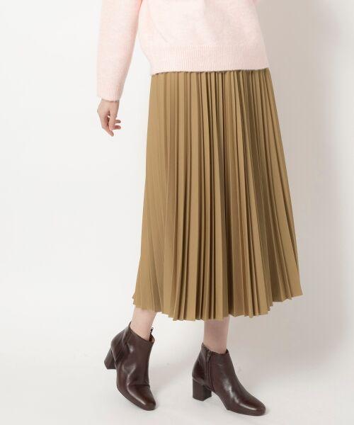 NIMES / ニーム ロング・マキシ丈スカート | ギャバストレッチプリーツスカート(キャメル)