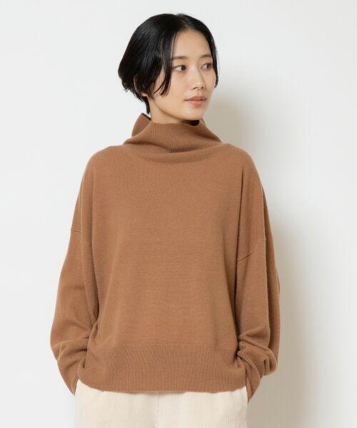 NIMES / ニーム ニット・セーター   ウールカシミアオフタートルプルオーバー(キャメル)