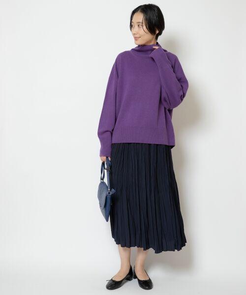 NIMES / ニーム ニット・セーター   ウールカシミアオフタートルプルオーバー   詳細10