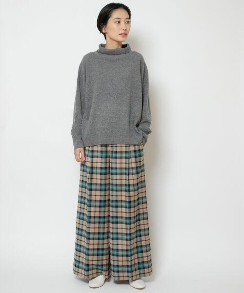 NIMES / ニーム ニット・セーター   ウールカシミアオフタートルプルオーバー   詳細8