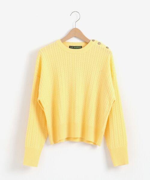 NIMES / ニーム ニット・セーター | ミニケーブル肩釦プルオーバー | 詳細10