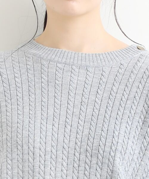 NIMES / ニーム ニット・セーター | ミニケーブル肩釦プルオーバー | 詳細4