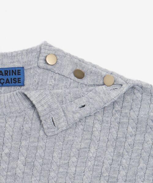 NIMES / ニーム ニット・セーター | ミニケーブル肩釦プルオーバー | 詳細6
