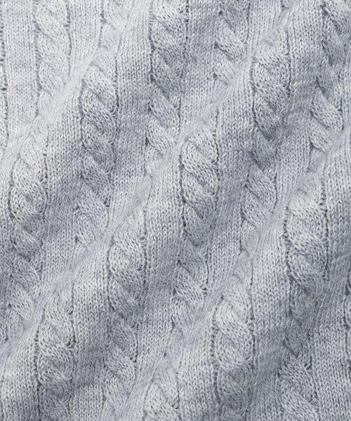 NIMES / ニーム ニット・セーター | ミニケーブル肩釦プルオーバー | 詳細7