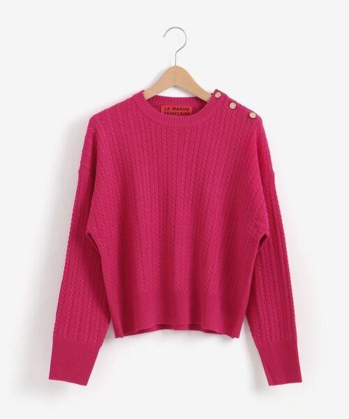 NIMES / ニーム ニット・セーター | ミニケーブル肩釦プルオーバー | 詳細8