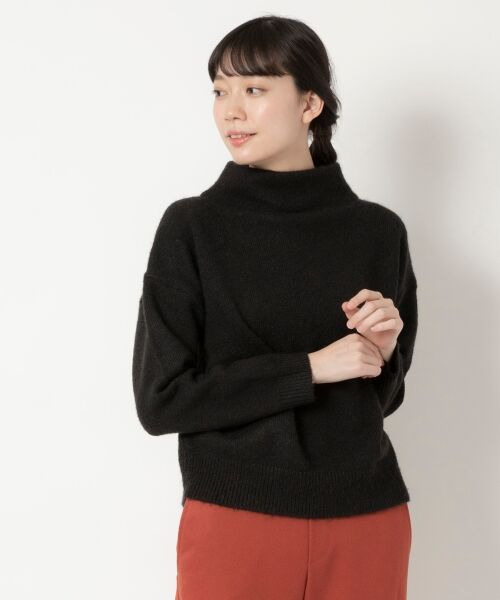 NIMES / ニーム ニット・セーター | ボトルネックプルオーバー(ブラック)
