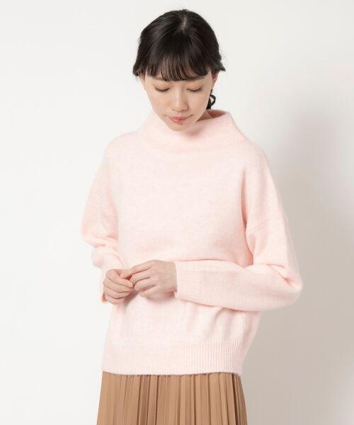 NIMES / ニーム ニット・セーター | ボトルネックプルオーバー(ピンク)