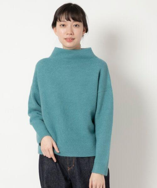 NIMES / ニーム ニット・セーター | ボトルネックプルオーバー(グリーン)