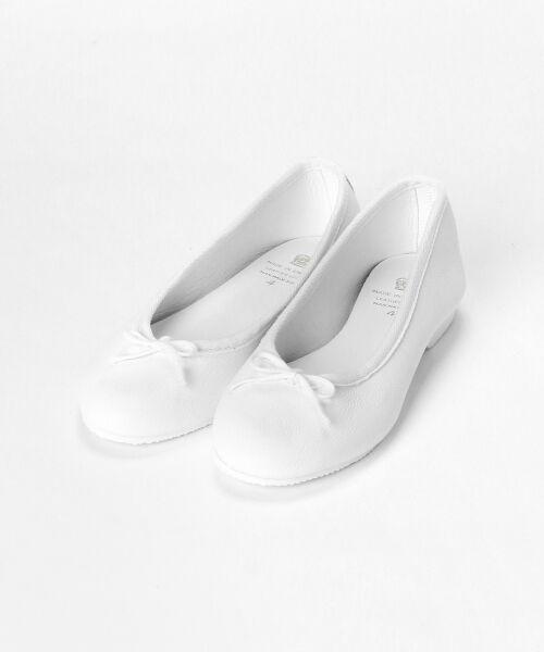 NIMES / ニーム バレエシューズ | CROWN BOW BALLET(ホワイト)