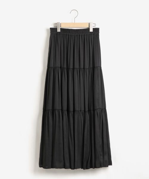 NIMES / ニーム ロング・マキシ丈スカート | ヴィンテージサテンリバーシブルスカート(ブラック)