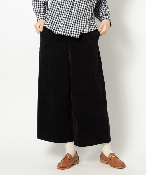 NIMES / ニーム ショート・ハーフ・半端丈パンツ   別珍 パンツ(ブラック)