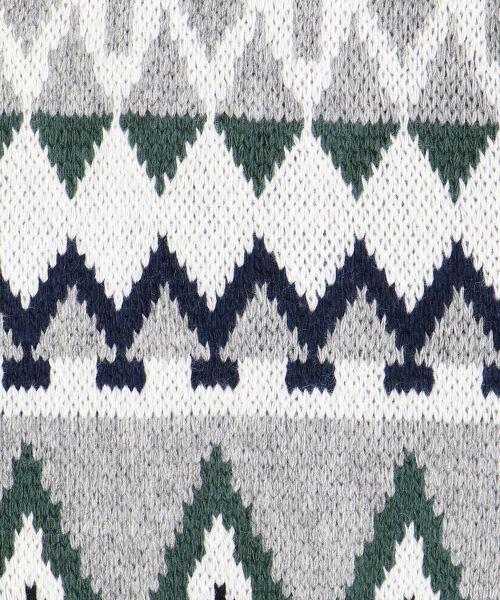 NIMES / ニーム ニット・セーター | ジオメトリージャガードタートルベスト | 詳細9