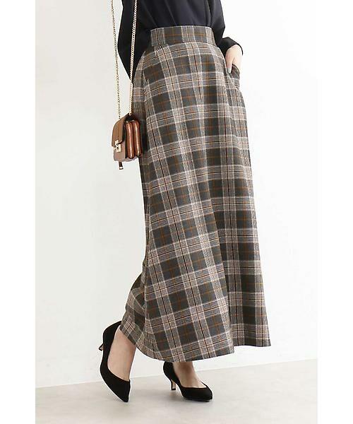 今季トレンドのブリティッシュなカラーチェック柄が可愛いロングスカート!