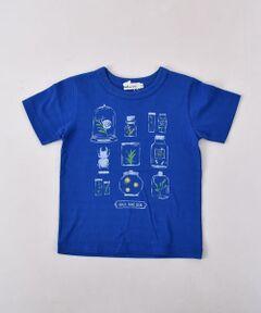 """男の子が大好きな昆虫をコレクションしたプリントTシャツ。<br>繊細なタッチが品のあるカジュアルスタイルに仕上がるポイントです。<br>プレーンなシルエットのTシャツは、デイリーに何枚持っていても重宝するアイテム。<br>身生地にはUVカット加工を施した、紫外線の強くなるシーズンに頼れる1枚です。<br><br>【Noeil aime BeBe (ノイユ エーム べべ)】<br>""""Nouvelle Base""""<br>フレンチカジュアルをベースに着やすさ、着心地を大切にした<br>デイリーライフウェアの提案をしています。<br>""""Nouvell""""トレンド・ディティール<br>""""Base""""気取らない・ベーシック"""