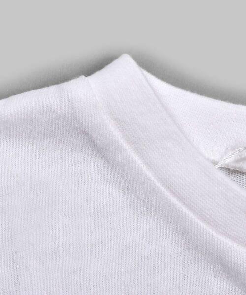 Noeil aime BeBe / ノイユ エーム べべ Tシャツ | ストライプ 切替 半袖 Tシャツ (90~130cm) | 詳細6