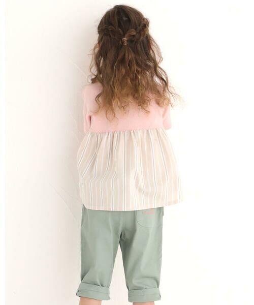 Noeil aime BeBe / ノイユ エーム べべ Tシャツ | ストライプ 切替 半袖 Tシャツ (90~130cm) | 詳細10