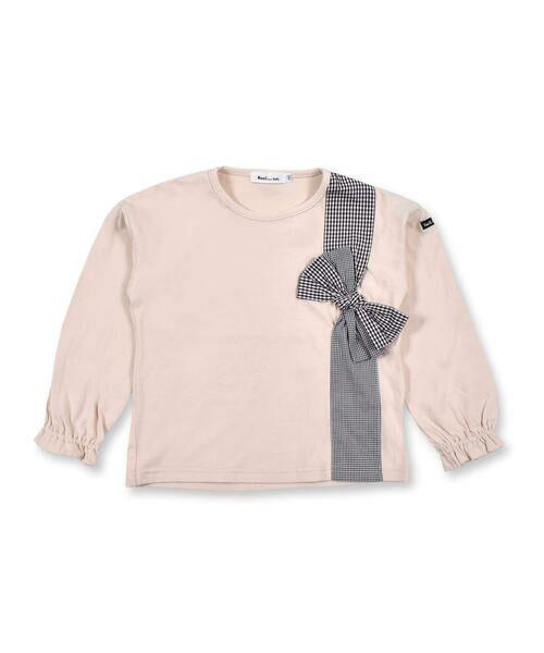 Noeil aime BeBe / ノイユ エーム べべ Tシャツ   ギンガムチェック リボン 付き Tシャツ (80~130cm)   詳細10