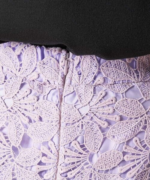 OFUON / オフオン ミニ・ひざ丈スカート | 【洗える】リーフ柄レースタイトスカート | 詳細3