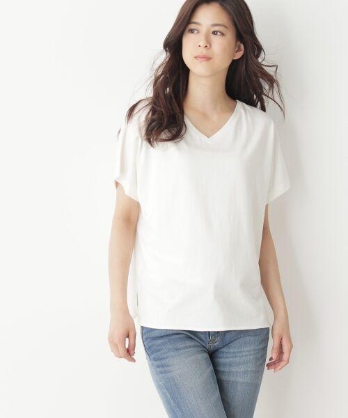 OPAQUE.CLIP / オペーク ドット クリップ カットソー | 2WAYスーピマコットンTシャツ(ホワイト系(002))