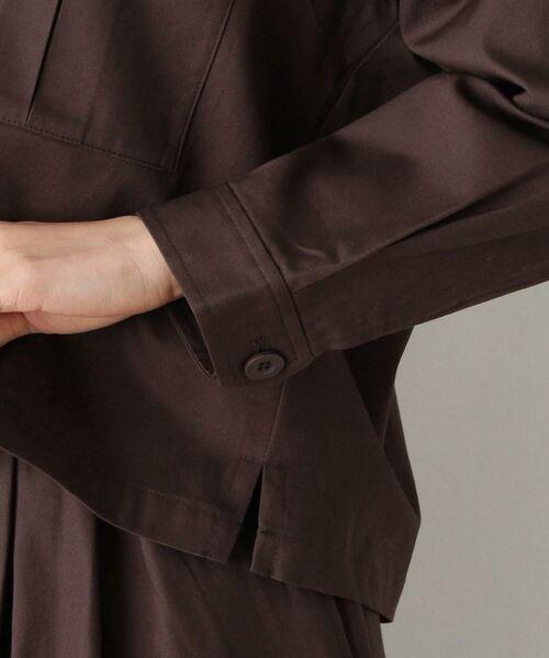 OPAQUE.CLIP / オペーク ドット クリップ テーラードジャケット | 【洗濯機洗いOK】オープンカラーダブルポケットジャケット | 詳細5
