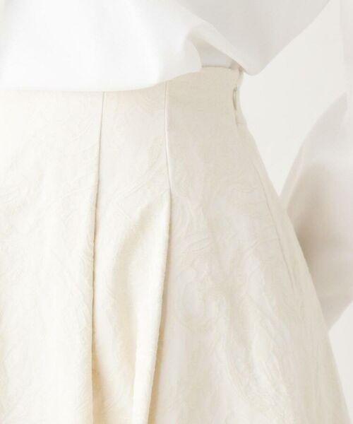 OPAQUE.CLIP / オペーク ドット クリップ ミニ・ひざ丈スカート | 【洗える・42(LL)WEB限定サイズ】フラワージャカードフレアスカート | 詳細4