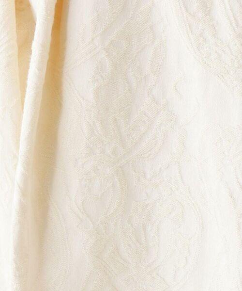 OPAQUE.CLIP / オペーク ドット クリップ ミニ・ひざ丈スカート | 【洗える・42(LL)WEB限定サイズ】フラワージャカードフレアスカート | 詳細6