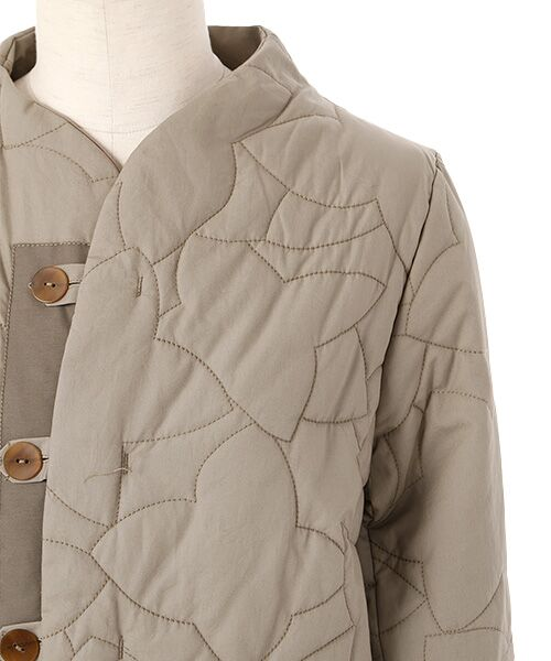 PAL'LAS PALACE / パラスパレス ノーカラージャケット | サイロブロード ボトル衿コート | 詳細3